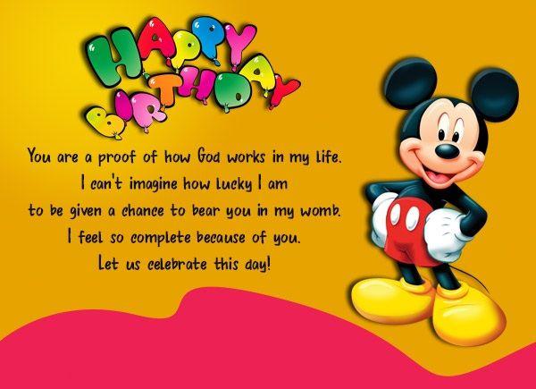 Birthday Wishes for Children or Kids