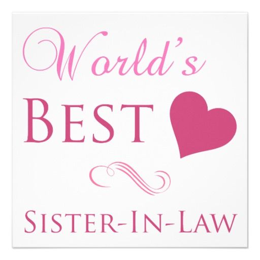 Best Wishes for Sister in Law